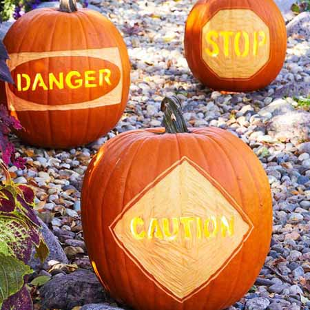pumpkin carving patterns for driveway or front yard walkway Halloween decoration