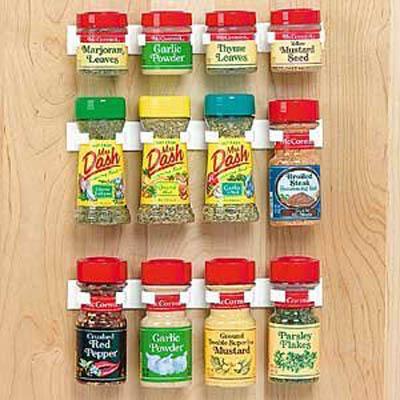 spice organizer for kitchen storage on cabinet door