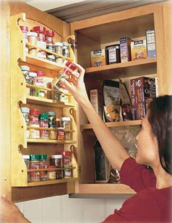 spice shelves and modern kitchen cabinet design