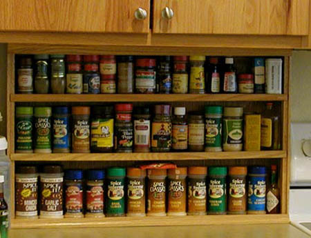 Modern kitchen accessories for spices storage for Spice cabinet ideas