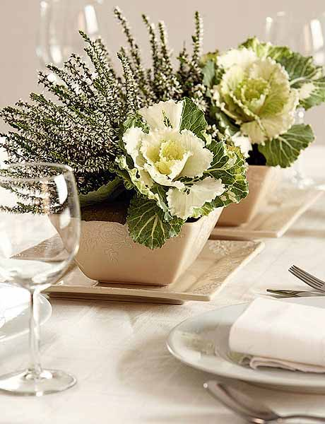 White Heather Flower Arrangement Design And Table Centerpieces