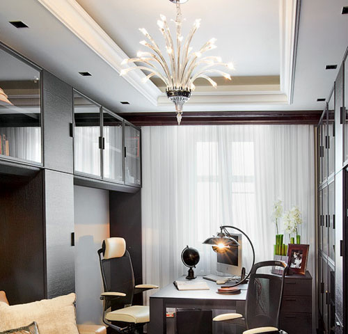 art deco decorating style and unique lighting fixtures