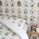 bird house wallpaper for kids room decor