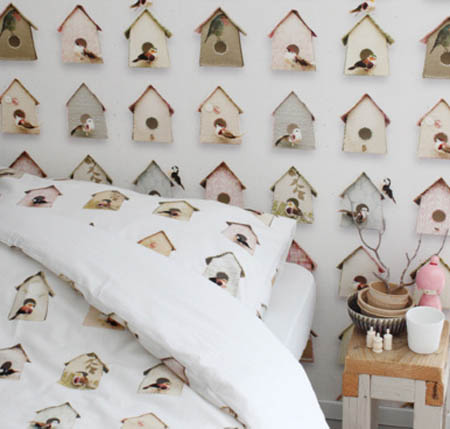 Creative and beautiful wallpapers kids rooms decor ideas for Bird wallpaper home decor