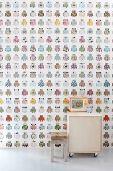 robot wallpapers for kids room decor