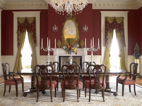 Biedermeier style dining room furniture