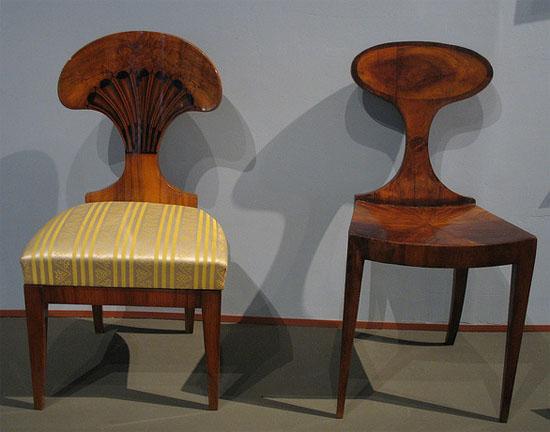 Biedermeier furniture style chairs, >