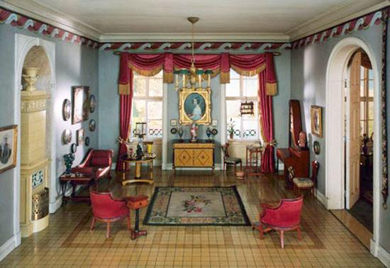 Living room design in beidermeir style
