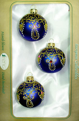 dark blue with golden yellow decorations christmas balls