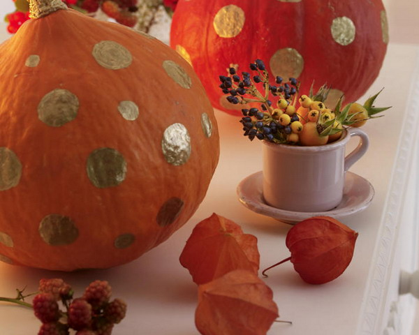 pumpkins and physalis flowers