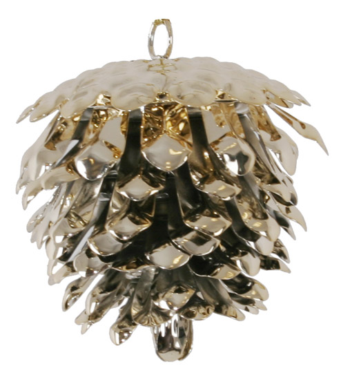 pine cone christmas tree decorations in black and golden colors