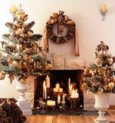 black and golden colors for christmas decorating