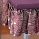 purple fabric for making table skirting