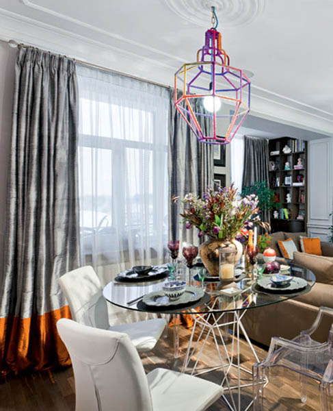eclectic decor created for modern dining room