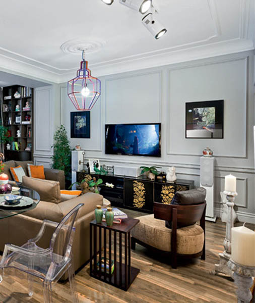 eclectic decor created for modern living room