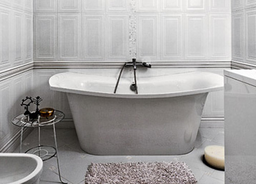 retro bathtub for modern bathroom decorating