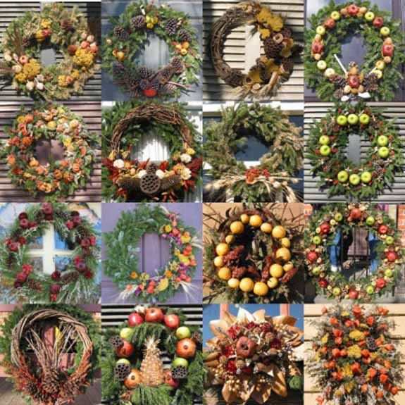 door wreaths for winter decorating