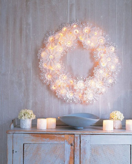 making christmas wreaths for winter decorating