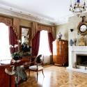 wood floor and antique furniture