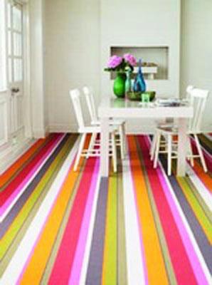 bright striped carpet for modern floor decor