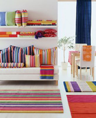 colorful stripes for modern interior decorating