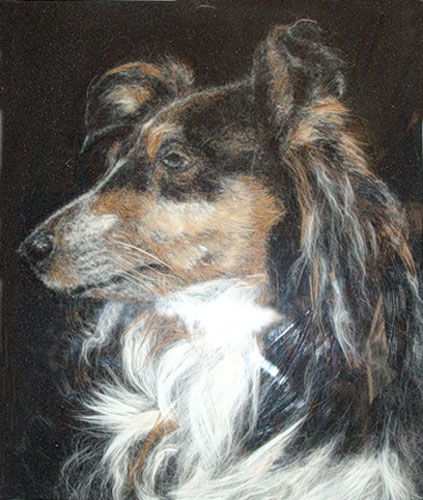 dog wool painting