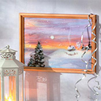 Unique Wall Decorating Ideas Winter Landscape Wool Painting