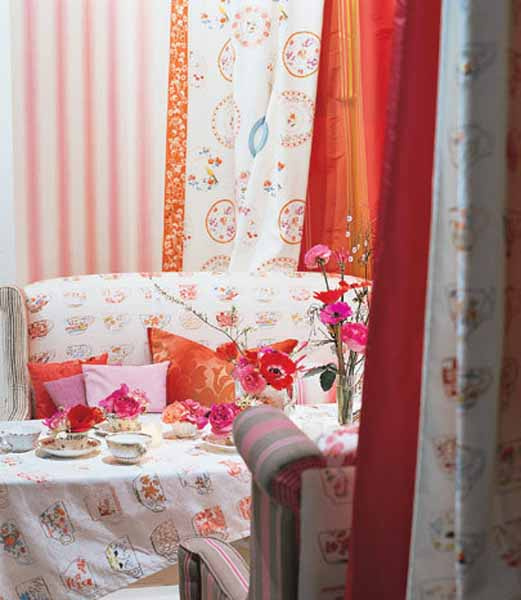 Modern home furnishing colors and decorative fabric prints for Modern home decor fabric prints