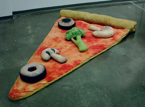 fake food on pizza floor cushion
