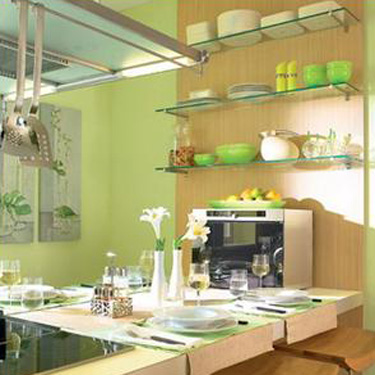 Green Paint And Kitchen Accessories Small Kitchen Decorating Ideas - Green kitchen accessories ideas
