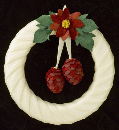 christmas wreath made of felt