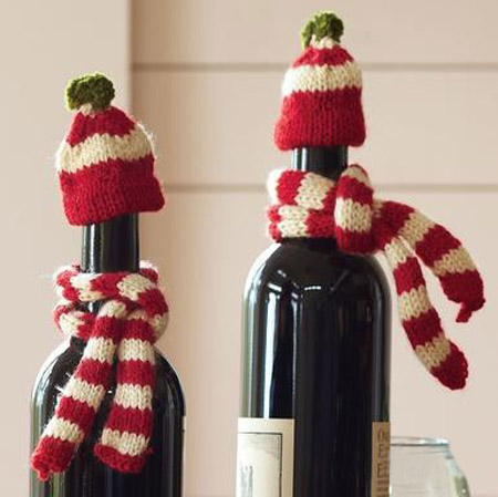 homemade christmas decorations for wine bottles