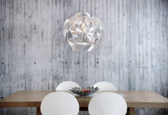 concrete wallpaper pattern for dining room decorating