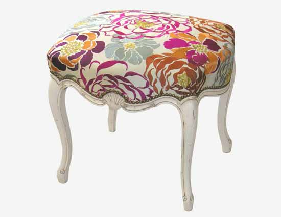 vretro decor floral furniture upholstery