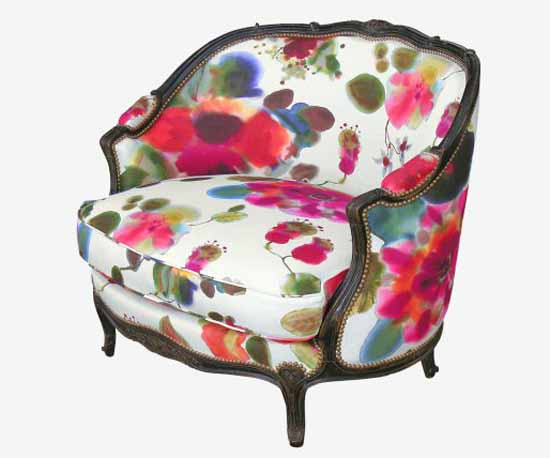 vintage furniture upholstery fabric print