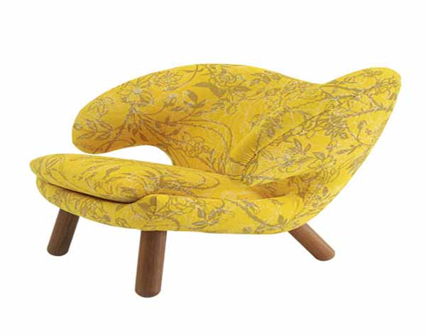 yellow chair for retro decor