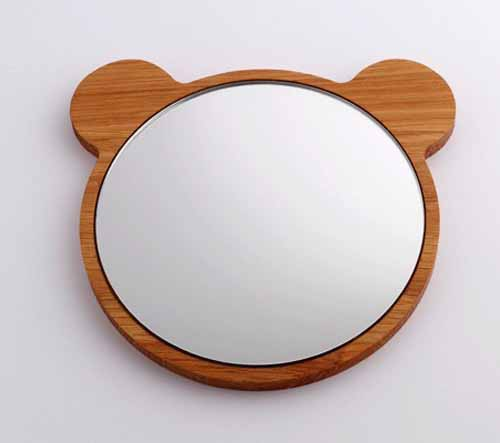 teddy bear wall mirror frame made of wood