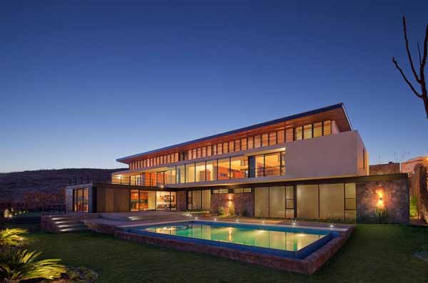 modern house design with pool