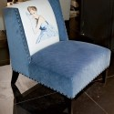 blue chair for modern living room