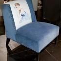 blue chair for modern living room