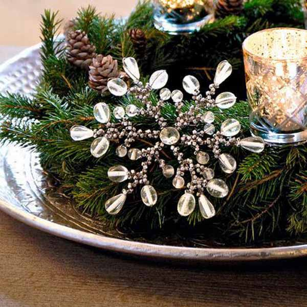 snowflake table centerpiece idea