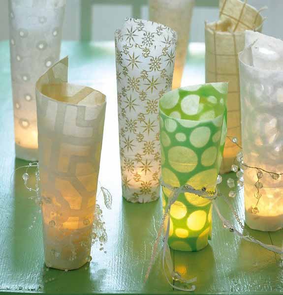 handmade candle holders for tanle decoration