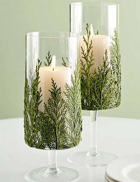 winter holiday tale decorations and candle centerpiece ideas