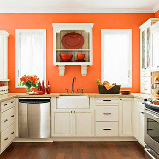 modern orange paint color