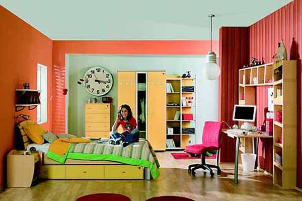 pinkish orange paint color