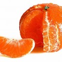 tangerine in reddish orange color