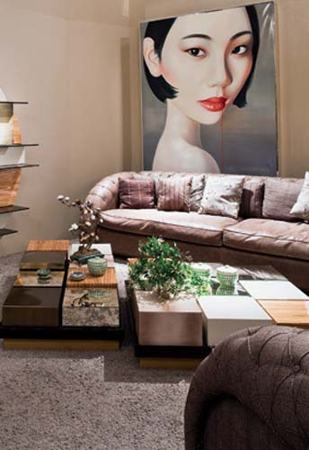 asian interior decorating, furniture and wall art