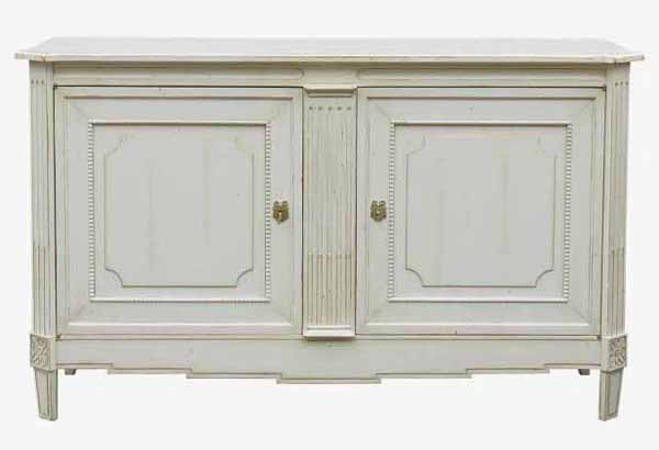 white cabinet painting for retro decor