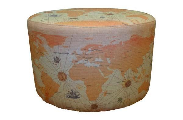 world map fabric prints