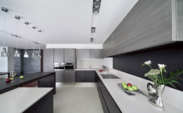 contemporary kitchen design in minimalist style